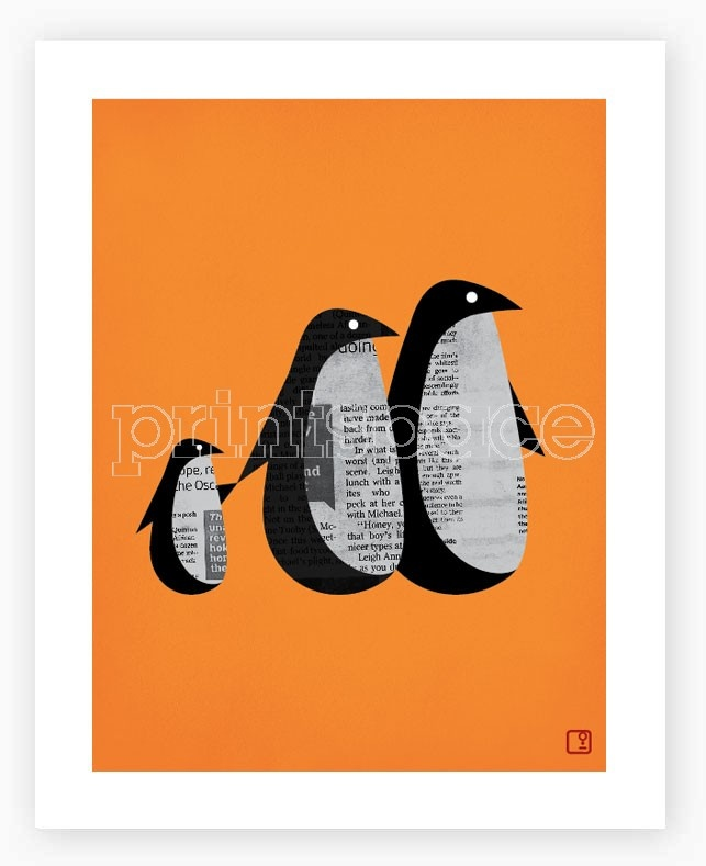 Printspace - Penguin News Art Print