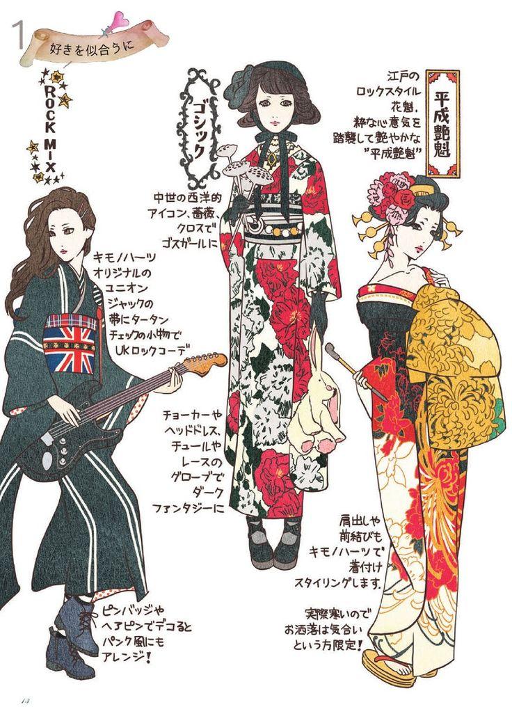 2017 how to book /coordinate label /kimono hearts #kimono