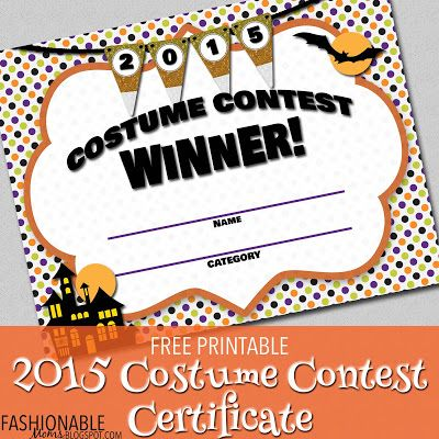 Awards For Halloween Costume Contest