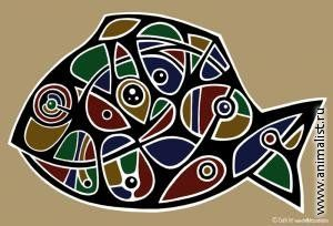рыба-фиш; рыба (Цифровая графика) [Анималистика]