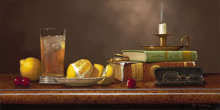 """Tea Time With The Classics"" Rino Gonzalez Giclee on Canvas 12"" x 24"" 100 Signed & Numbered"
