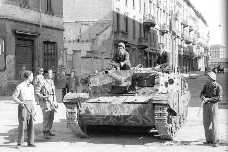 A Semovente M43 da 75/46 captured by Italian freedom fighters.