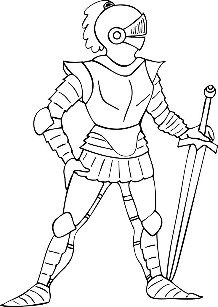 Coloring Pages Of Knights Edited