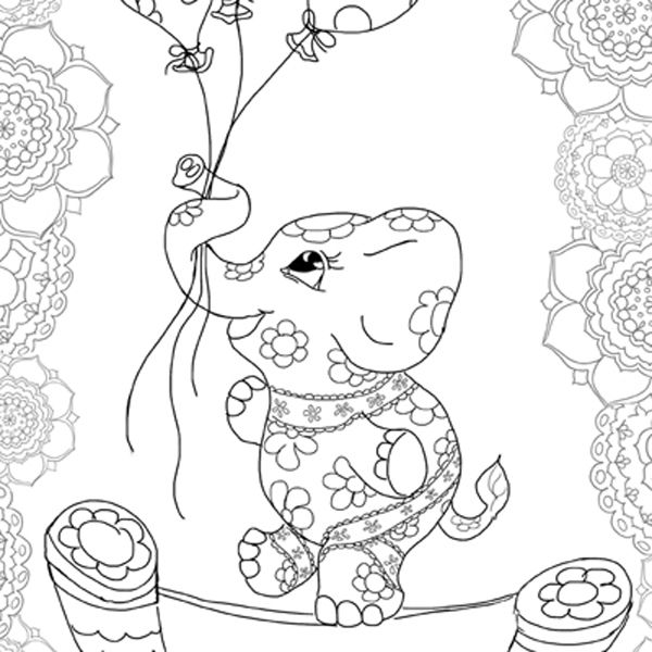 colouring in pages hattifant adult coloring therapy