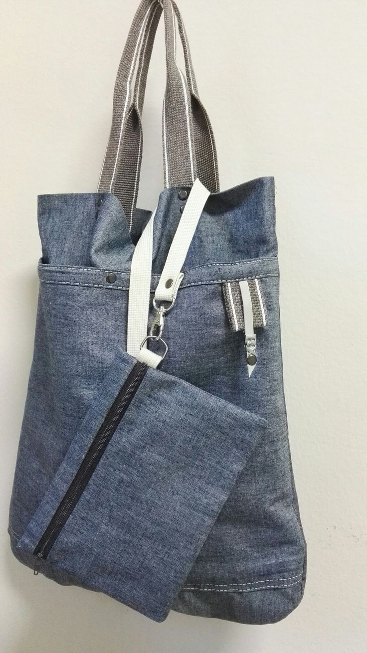 Bolso totte jeans con clutch By Xana