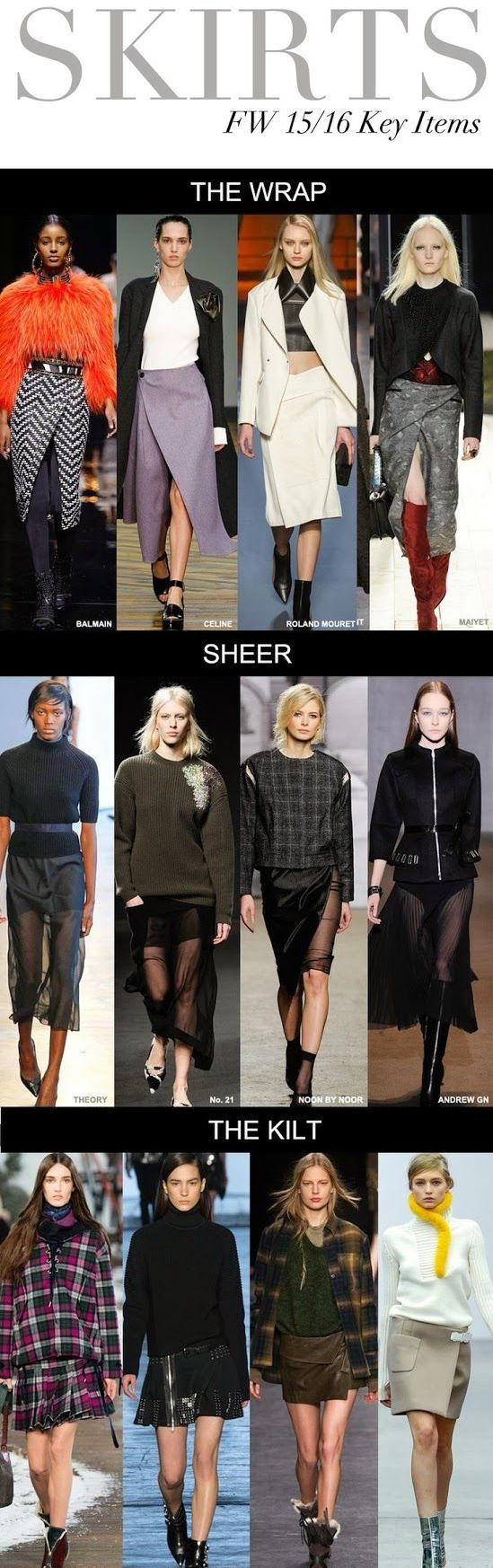 Skirts colors and trends Fall - Winter 2015-2016 woman fashion apparel ---- Tendenze Gonne stagione Autunno-Inverno 2015-2016 moda donna
