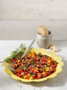 Ratatouille mit Zuchini, Tomaten und Paprika