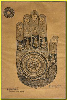buddha palm back tattoo - Google Search