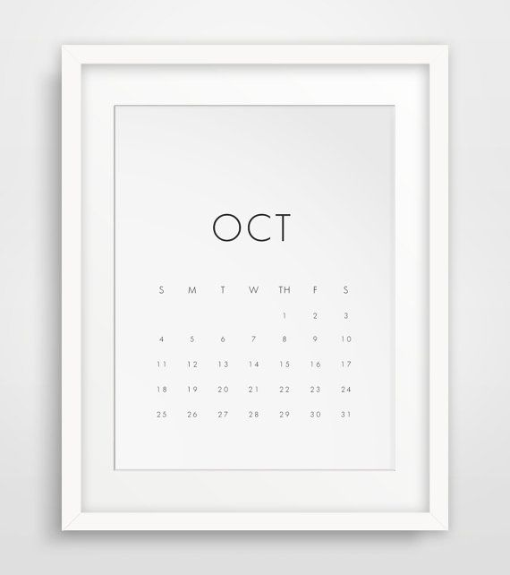 Wall Calendar 18 Monthy Printable Calendar von MelindaWoodDesigns