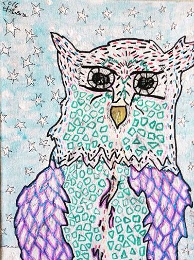Prismatic snow owl 2016 my Mother's Day artwork