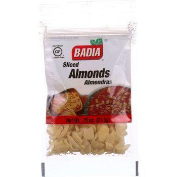 Badia Spices Almonds Sliced .75 oz case of 12