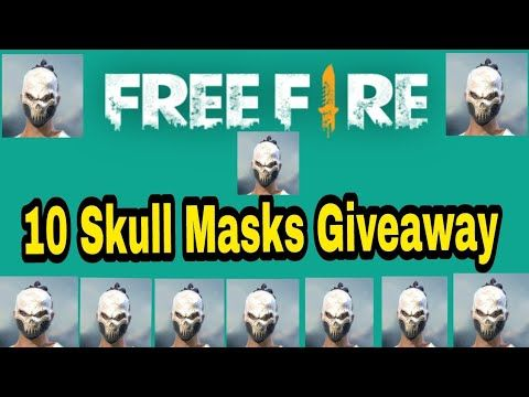 Garena Free Fire 10 Skull Mask Giveaway and Paytm cash