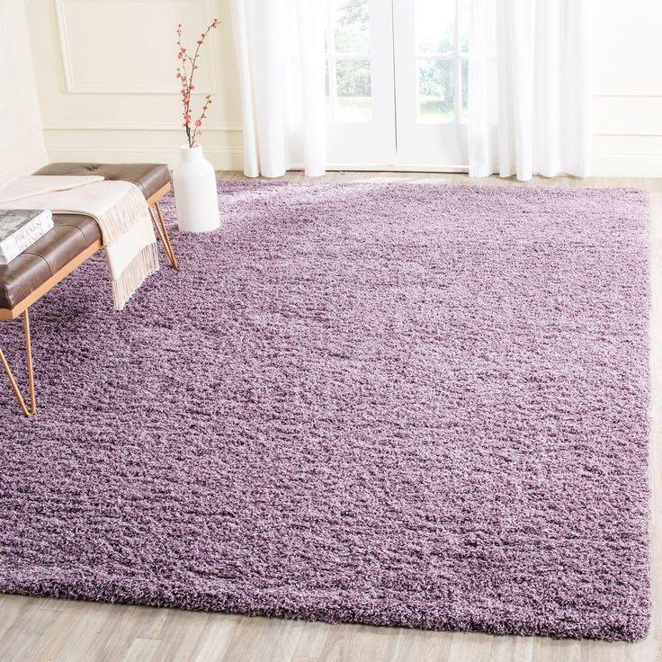 laguna shag purple 8 ft x 10 ft area rug - Fluffy Rugs