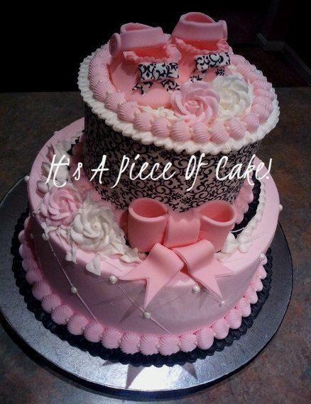 Damask Baby Shower Cake https://www.facebook.com/ItsAPieceofCakeWV