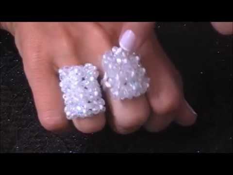 Aula de Bijuteria: Anel de cristais e missanga - YouTube