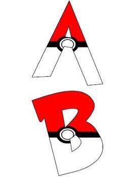 Filled Pokemon Alphabet Letters (Pokeballs) #2