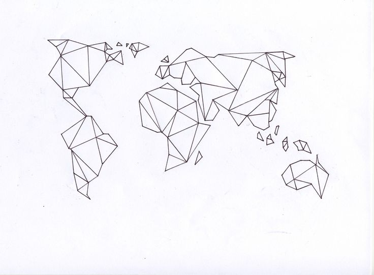 Origami inspired world map would look modern and cool on framed on a wall. I…