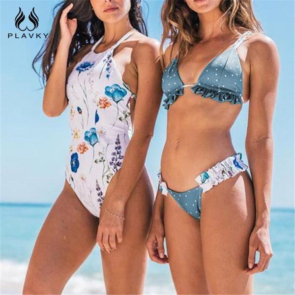 05a1d417fa4 #Fashion #BestPrice Sexy Vintage Floral Brazilian Bikini Women Swimsuit  Ruffled PF1185 #Discounts #BestPrice