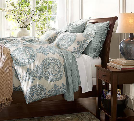 Bedding Lucianna Medallion Duvet Cover Amp Sham Blue