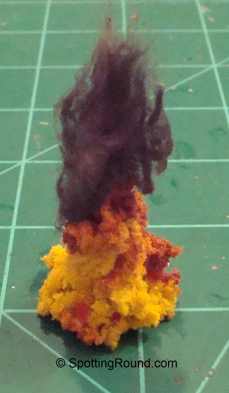 Flame Marker with Dyed Cotton Smoke | Terrain - Effects ...