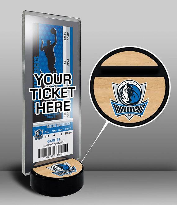 Dallas Mavericks Ticket Display Stand - Team Logo or My First Game