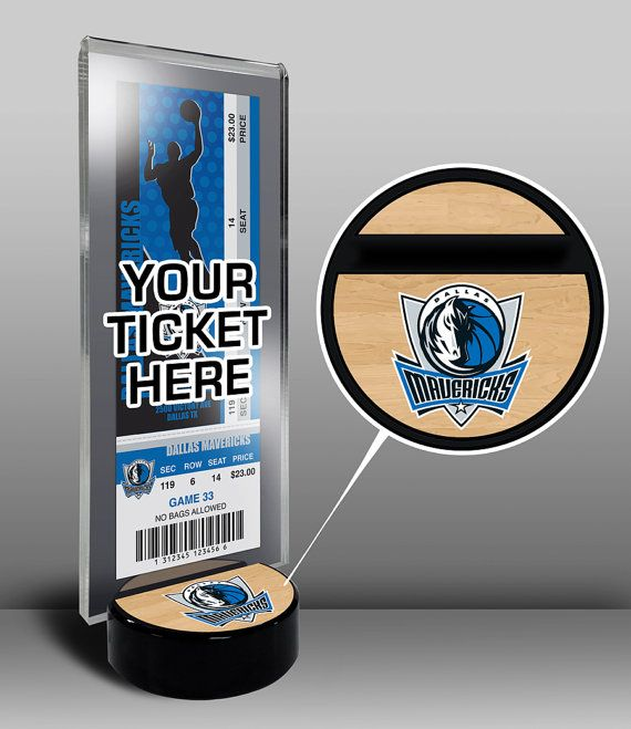 Dallas Mavericks Ticket Display Stand - Team Logo or My First Game