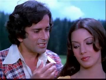 Shashi Kapoor with Shabana Azmi in Fakira, one of his more enjoyable masala movies.
