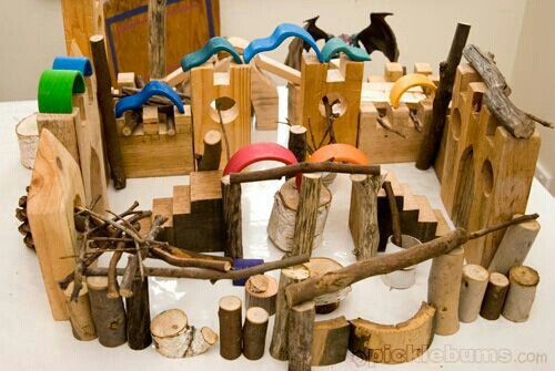 Add twigs and branches to construction play.