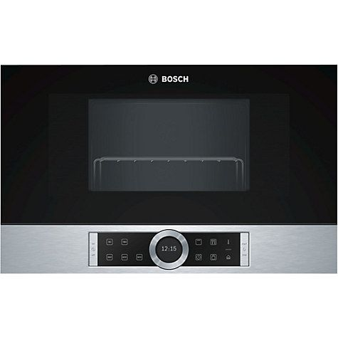 Buy Bosch BEL634GS1B Built-In Microwave Oven with Grill, Black / Stainless Steel Online at johnlewis.com