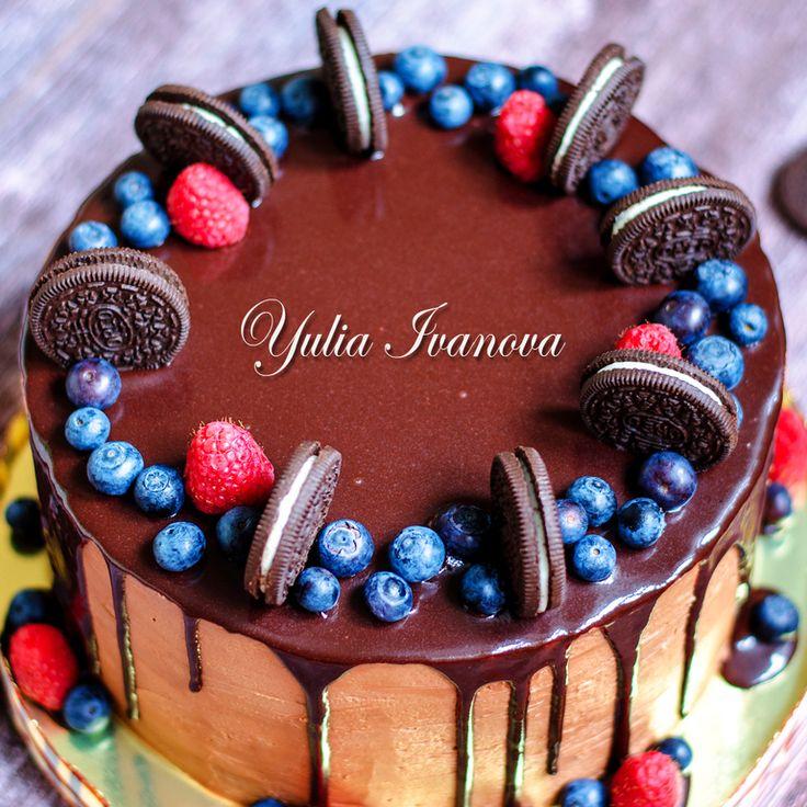 Украшение тортов кремом,шоколадом, фруктами - Сообщество «Кондитерская» - Babyblog.ru - стр. 286