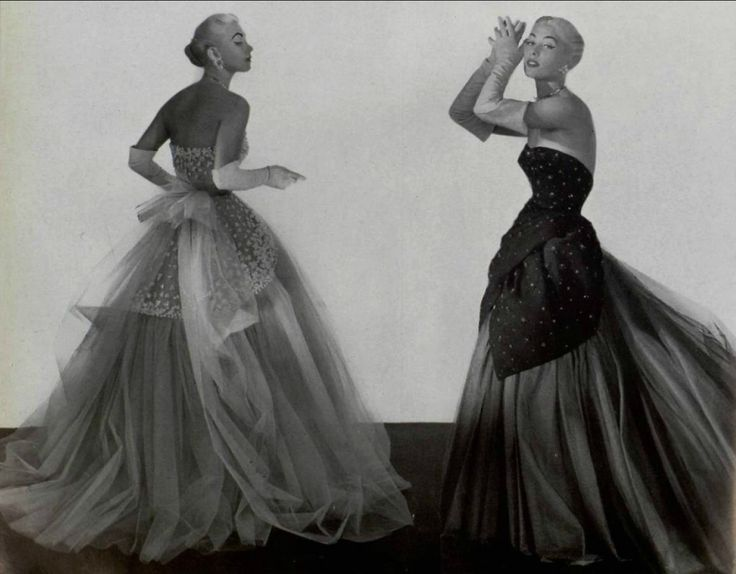 1953 ball gowns from Worth and Jacques Heim