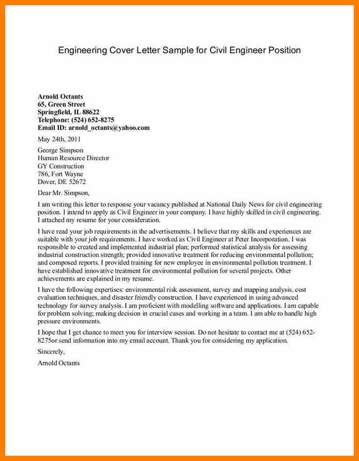 Highways Engineer Cover Letter Cvresumeunicloudpl