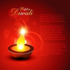 Diwali Beautiful Background Vector Material