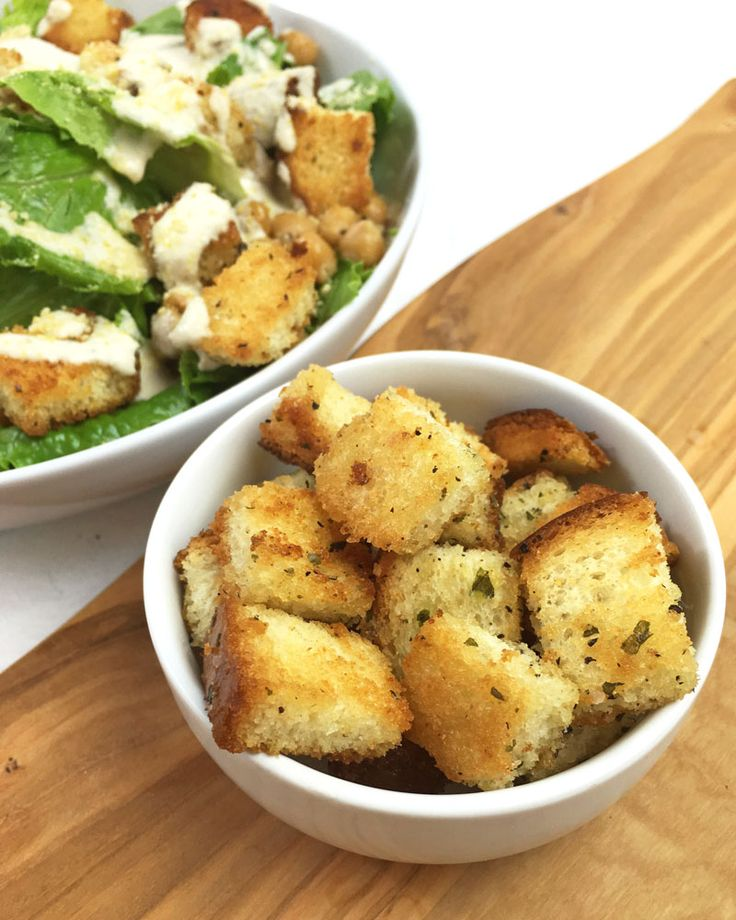 Making your own croutons is super simple with this recipe for homemade garlic croutons. Less than 10 minutes and you have a perfect salad topping!