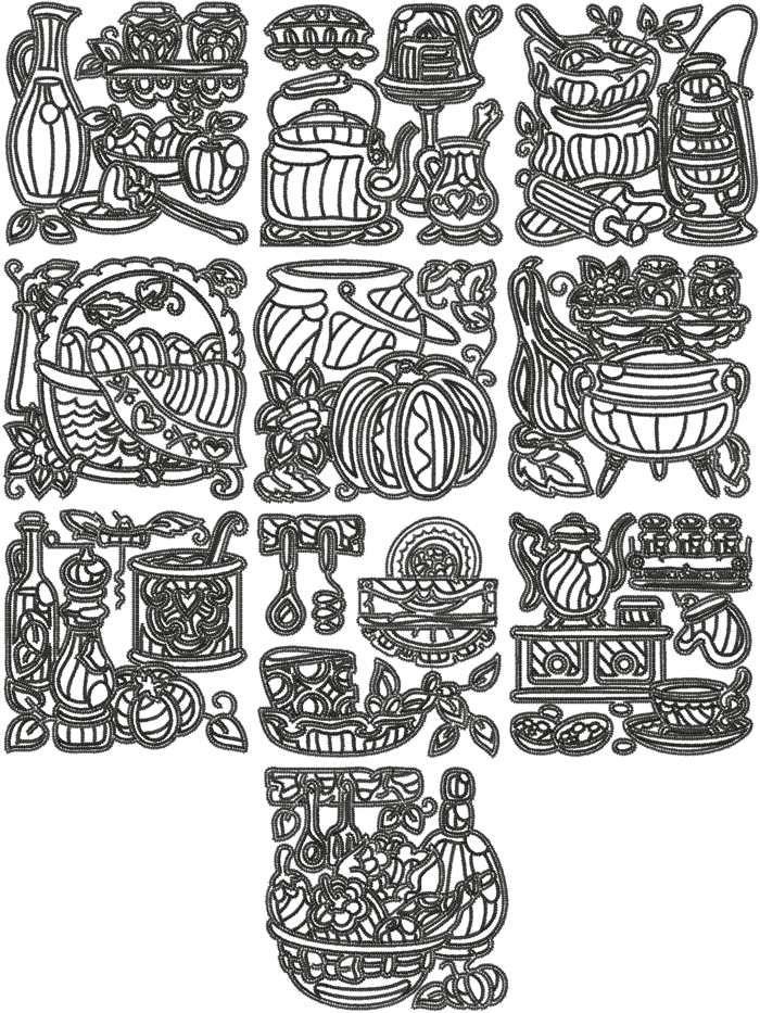 17 Best Images About Kitchen Machine Embroidery Designs On Pinterest Fruits Basket Porcelain