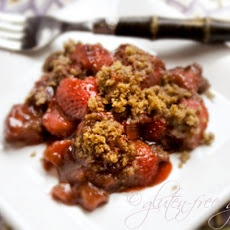 I would add even a little more flavor to this by putting a light drizzle of raspberry balsamic over the top.  Strawberry Rhubarb Crisp Recipe with Balsamic Vinegar