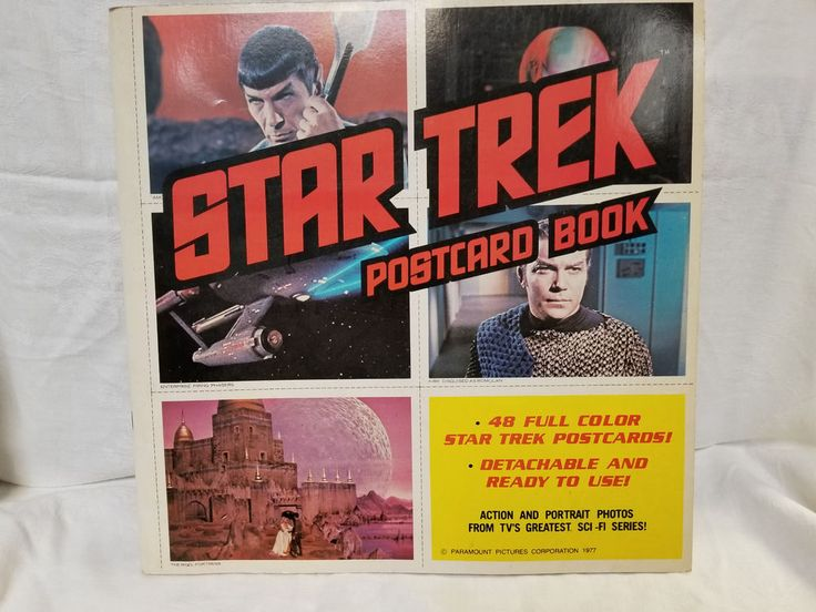 1977 PARAMOUNT PICTURES STAR TREK POST CARD BOOK ORIGINAL SERIES