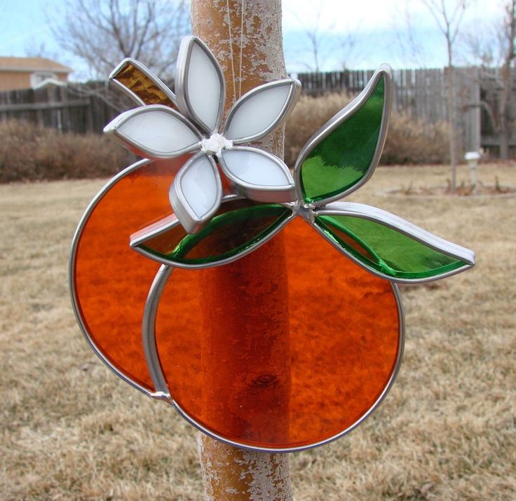 Stained Glass Oranges with Orange Blossom by Firefallvisions on Etsy https://www.etsy.com/listing/195601965/stained-glass-oranges-with-orange