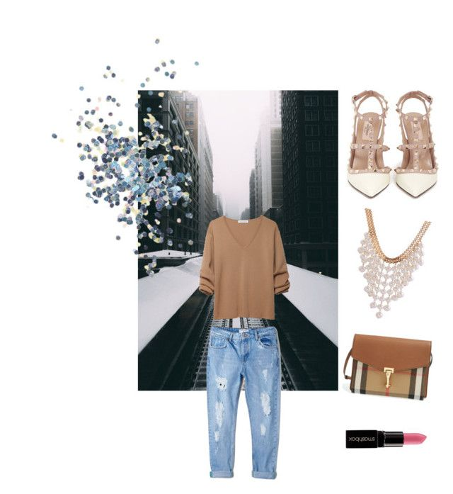 Untitled #10 by traversrt on Polyvore featuring polyvore, fashion, style, J.W. Anderson, MANGO, Valentino, Burberry, Topshop and Smashbox