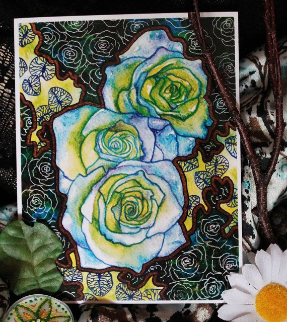 Greeting Card - Blue Roses - The perfect greeting card for any nature lover, especially for someone who loves bright, colorful flowers.