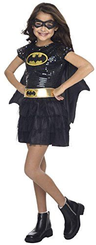 Rubie's Costume DC Superheroes Batgirl Sequin Dress Child Costume, Medium -- Want to know more, visit…