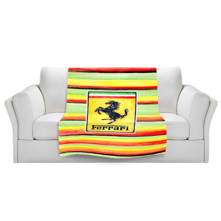 This is the perfect blanket for any Ferrari lover to cuddle up with! Our unique and artistic fleece blankets are soft and full of snugly warmth. What could be better than a long nap on the couch with