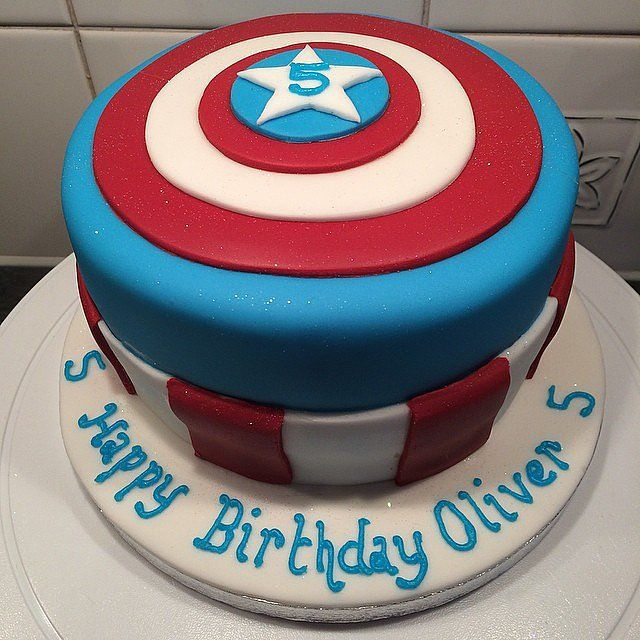 Rather than model the cake after Captain America, this baker used his shield as inspiration. Source: Instagram user TheLovelyCakeCompany