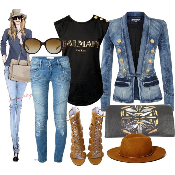 Balmain by ildikos on Polyvore featuring Balmain, Pierre Balmain, Janessa Leone and Coach