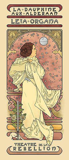 <3: Art Nouveau, Karen O'Neil, Star Wars, Karen Hallion, Starwars, Princess Leia