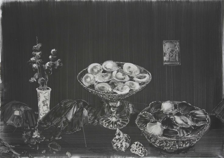 Christopher Cook 'Oyster encampment' graphite on paper 72 x 102cm 2017