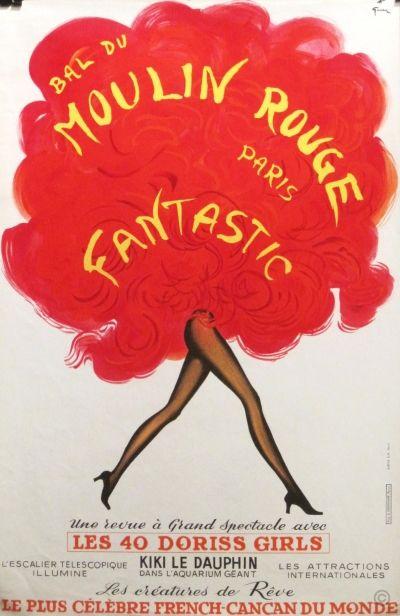 Paris Vintage - Moulin Rouge Poster - I love this illustration