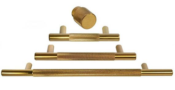 Brass Texture Drawer Pulls and Knobs in Brass - Round Drawer Handles and knob in various sizes.  DESCRIPTION • Brass pulls are modern and an excellent fit for cabinets, drawers, furniture, and any other home project where a brass pull or brass hardware may be used. • These brass