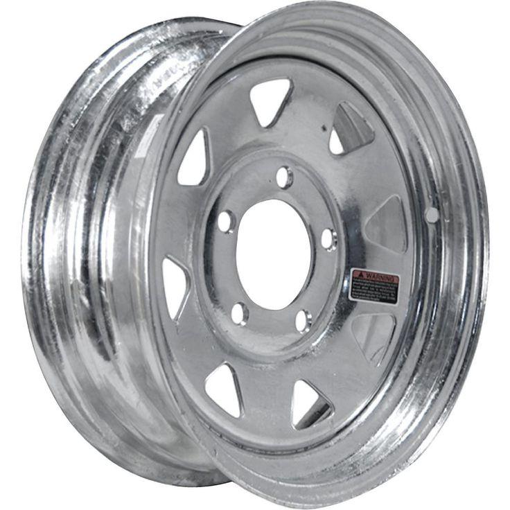 2040 lb. Load Capacity Galvanized 8-Spoke Steel Wheel Rim