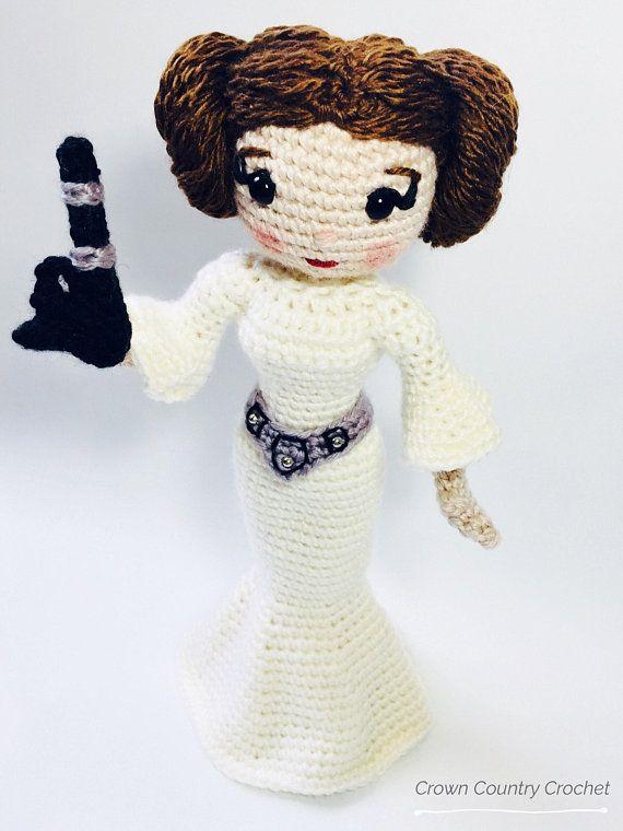 CROCHET PATTERN Leia Doll // Star Wars Crochet Pattern // Princess ...